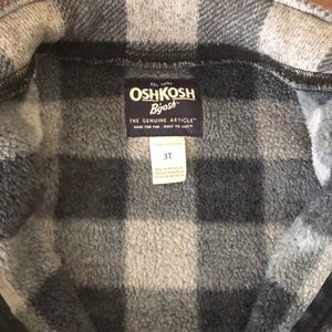 OshKosh B'gosh Jackets & Coats - OshKosh B'Gosh Sweater Fleece Jacket Buffalo Sz 3T